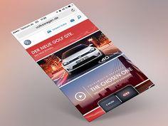 Volkswagen GTE mobile web special by HerrBrenner