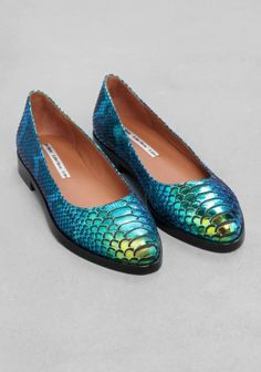 & Other Stories   Oily Reptile Flats