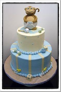 Monkey cake, baby shower cake