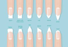 Picking Stylish Nail Shapes for Chubby Fingers 2020 ❤️ Matte Nail Art, Best Acrylic Nails, Colorful Nail Designs, Cool Nail Designs, Gorgeous Nails, Pretty Nails, Different Acrylic Nail Shapes, Nail Shapes Squoval, Opi Nail Polish Colors