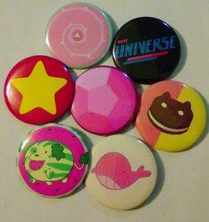 Steven Universe  Random SetSet of 7 buttons by DuskWingArts