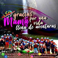 Gracias #mamá por una vida llena de #aventuras en #Filobobos ☎️OFICINA 01[229] 1508316 📲 WHATSAPP 2291476029 📬 EMAIL turismoenveracruz@gmail.com  🌎http://www.turismoenveracruz.mx #rafting #hospedaje #vacaciones #turismo #Veracruz #10demayo #diadelasmadres