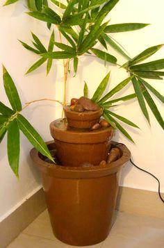 DIY Water fountain : Indoor / Outdoor ( Step by step procedure )