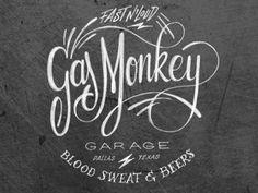 Typography inspiration   #875 Gas Monkey Garage by bijdevleet #typography #lettering
