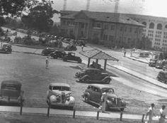 LSU campus, 1937;  Tiger Stadium is in background.