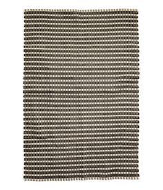 """Jacquard-weave Cotton Rug  $119 -- 55""""-79""""  COLOR: Natural white/charcoal grayJacquard-weave Cotton Rug 