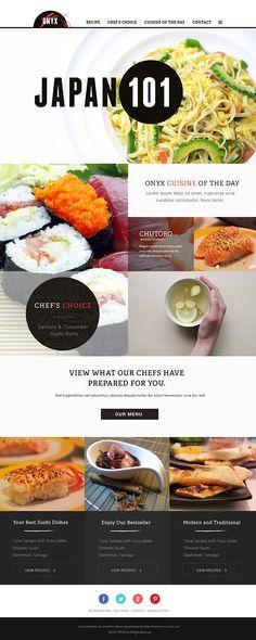 Modern Japanese restaurant branding.