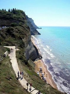 Loggas Beach in Peroulades, Corfu, Greece