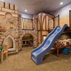 Indoor Playhouse Kids Design Ideas, Pictures, Remodel and Decor