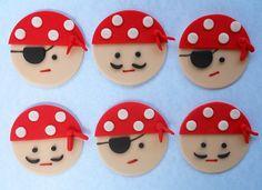 12 PINK PIRATE GIRL Edible Cupcake Toppers by SWEETandEDIBLE, $16.00