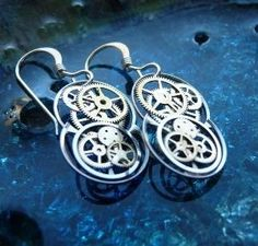 Steampunk style earrings