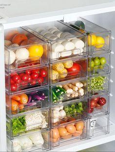 Fridge Drawers, Refrigerator Storage, Kitchen Drawers, Kitchen Cabinets, Food Storage, Cheap Storage, Storage Bins, Kitchen Drawer Organization, Storage Organization