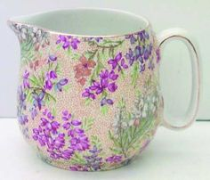 ~Heather of the Moors~ Lord Nelson Heather creamer Antique China, Vintage China, Tea And Crumpets, My Cup Of Tea, Tea Service, Chocolate Pots, Vintage Dishes, Cream And Sugar, China Patterns
