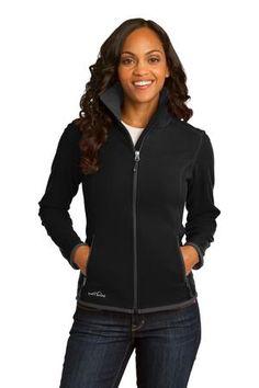 Buy the Eddie Bauer Ladies Full-Zip Vertical Fleece Jacket Style EB223 from SweatShirtStation.com, on sale now for $50.98 Black #fleecejacket #eddiebauer #sale