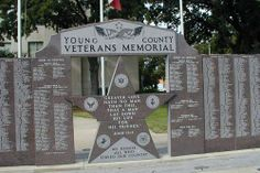 Young County Veterans Memorial on courthouse ground, Graham Texas