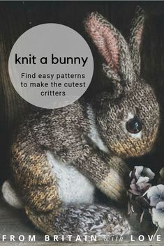 love this dot pebbles rabbit knitting pattern to hand knit the cutest lifelike b. - love this dot pebbles rabbit knitting pattern to hand knit the cutest lifelike bunny rabbits and ot - Knitting Humor, Knitting Projects, Baby Knitting, Knitted Baby, Free Knitting, Woodland Critters, Woodland Animals, Beautiful Rabbit, Animal Knitting Patterns