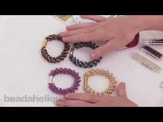 How to Make the Deluxe Beaded Kumihimo Bracelet Kit with Long Magatama Beads - YouTube