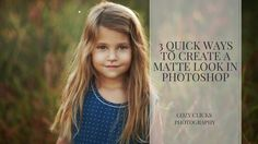 Three easy ways you can create a matte effect in Photo shop
