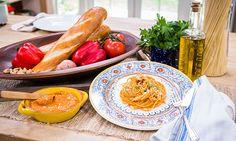 Home & Family - Recipes - Fabio Viviani's Spaghetti Romesco   Hallmark Channel