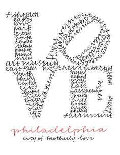 LOVE Philly Drawing Print by ManayunkCalligraphy on Etsy, $15.00