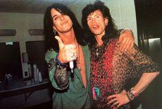 Nikki Sixx (The Mötley Crüe) and Steven Tyler (The Aerosmith).