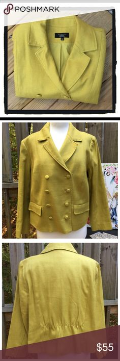 NWOT Talbots Blazer Beautiful double breasted Talbots Blazer!!!!  100% cotton, super detail on the jacket!!  Size: 14WP.  NWOT!!!! Talbots Jackets & Coats Blazers