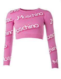 MOSCHINO Pullover Pink Outfits, Kpop Outfits, Classy Outfits, Pretty Outfits, Fashion Outfits, Barbie Crop Top, Moschino, Pull Court, Mode Chanel