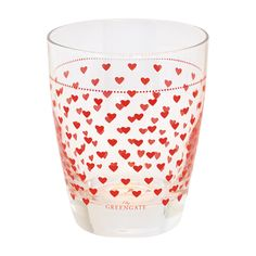 GreenGate Glass Haven Red H 9,5 cm