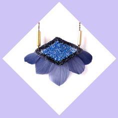 Hand embroidered Velvet Geometric Diamond / Pastel por jujujust, $64.00