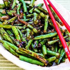 Kalyns Kitchen®: Recipe for the Worlds Easiest Garlicky Green Beans Stir Fry   [#SouthBeachDiet friendly from Kalyn's Kitchen]