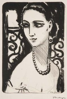 Kees van Dongen, Le Collier de Perles, Litho, 1924