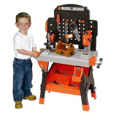 Em is turning 4! Black & Decker Junior Power Workshop - This was Em's 4th bday present and she LOVES IT