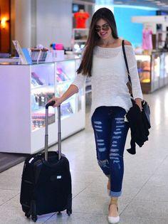 look aeroporto Camila Queiroz
