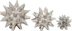 """Bayden Hill Ceramic Abstract Star S/3 4"""", 5"""", 7""""D"""