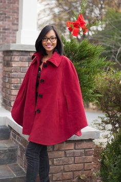 Steve Madden Red Riding Hood Cape - Kate Style Petite