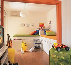 Quarto de irmãos. Dividindo o mesmo quarto. Quarto decorado para meninos. #encantadahome #quarto #quartodemenino  www.encantadahome.blogspot.com.br