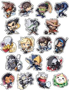 """Overwatch Sticker Sheet!Now available for $8 for the whole sheet. Characters are not sold individually. """"help support by becoming a patron today! """""""
