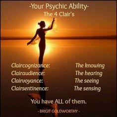 """There is also another major """"clair"""". not mentioned here and that is Clairtangency ( also known as Psychometry, ) or Clear touching. This is..."""
