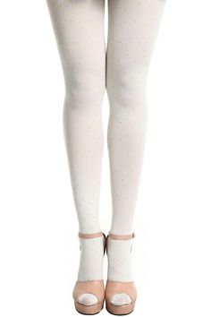 #Romwe ROMWE | Vertical Stripes White Tights, The Latest Street Fashion