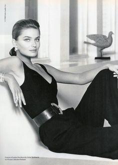 Vogue Australia 1988 Estee Lauder  Photo: Victor Skrebneski Model: Paulina Porizkova