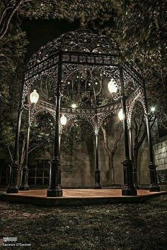 Gazebo – another creepy addition to Kalis already creepy garden. – Gardening Seasons Gazebo – another creepy addit Gazebos, Gothic Garden, Goth Home, Gothic Furniture, Midnight Garden, Gothic House, Victorian Gothic Wedding, Gothic Home Decor, Gothic Architecture