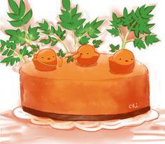 Carrot cake - © pixiv member ID: 1096811 http://chai.wa-sanbon.com/top.html Artist @ twitter: drawingchisanne