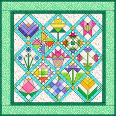 This is pretty. It reminds me of Mary's quarter quilt. I does llok like it is paper pieced though.  That's enough to scare me away from trying it.