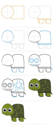 How to draw a turtle (Step-by-step)