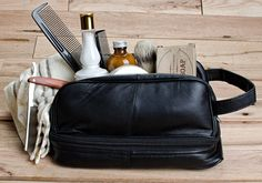 Great choices for men's toiletry bags on stylesamplemag.com