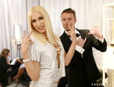 Pin for Later: Relive the Best Moments From the 2014 Emmys  Gwen Stefani let loose with Chris Hardwick backstage.