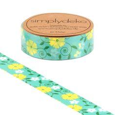 Masking Tape - Masking Tape Washi-Tape Blumen Blumenranke retro - ein Designerstück von simplydeko bei DaWanda