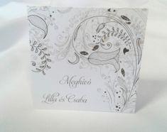 Egyedi grafikus esküvői meghívó 20