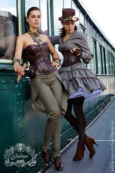 Купить Корсеты RETURN TO SYBERIA - коричневый, корсет, кожа, антик, стипанк, кожа