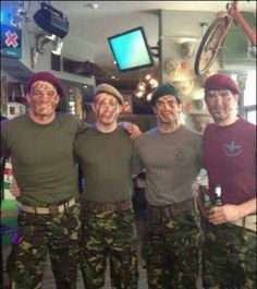 Henry Cavill, second from the right, and his brothers.
